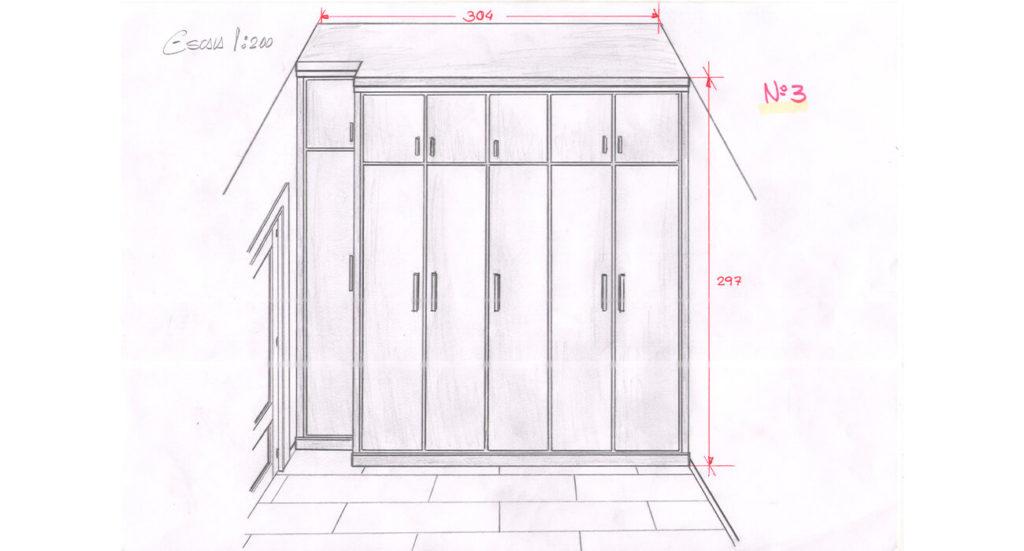 Boceto armario a medida
